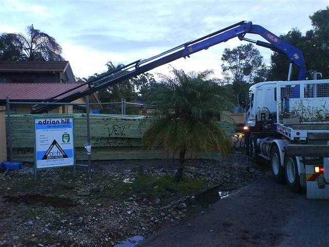 Crane trucks drop loads off where you want